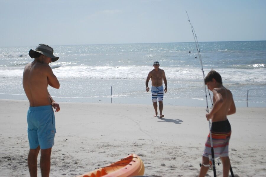 Topsail-boys fishing