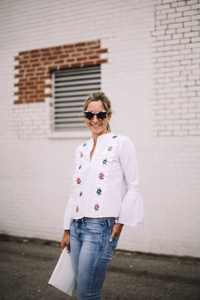 Embroidered blouse featured