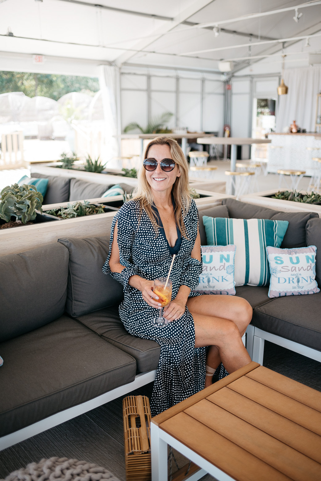 Blogger Never Without Navy at Shore Club Chicago