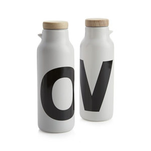 Olive Oil and Vinegar Set of Bottles from Carte and Barrel as a favorite hostess gift idea