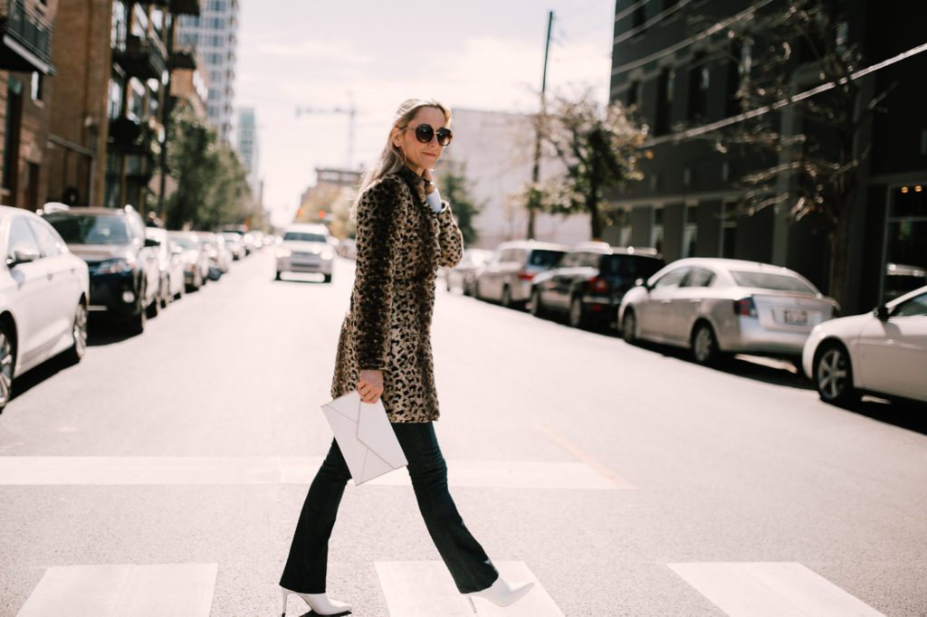 Styling a leopard print jacket for NYC