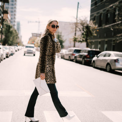 Styling a leopard print coat for NYC