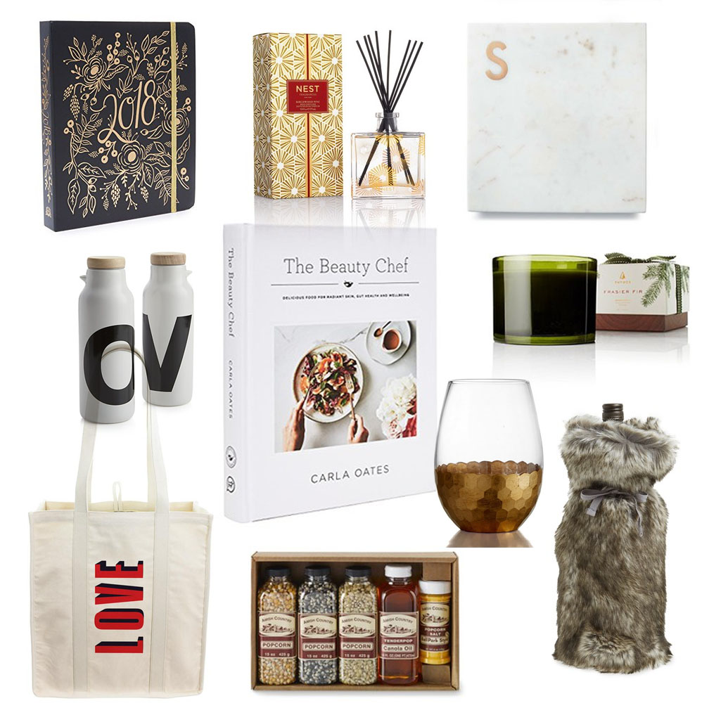 Collage of Hostess Gifts Under $50