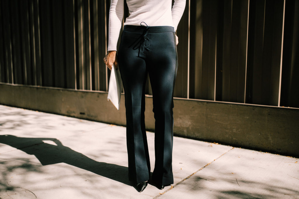 Dressy pair of navy athleisure pants