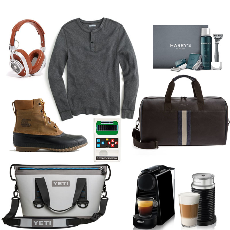 Collage of Gifts for Guys