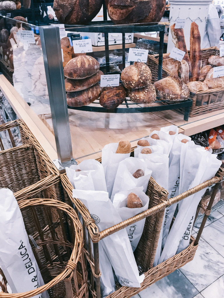Bread section at Dean and Deluca