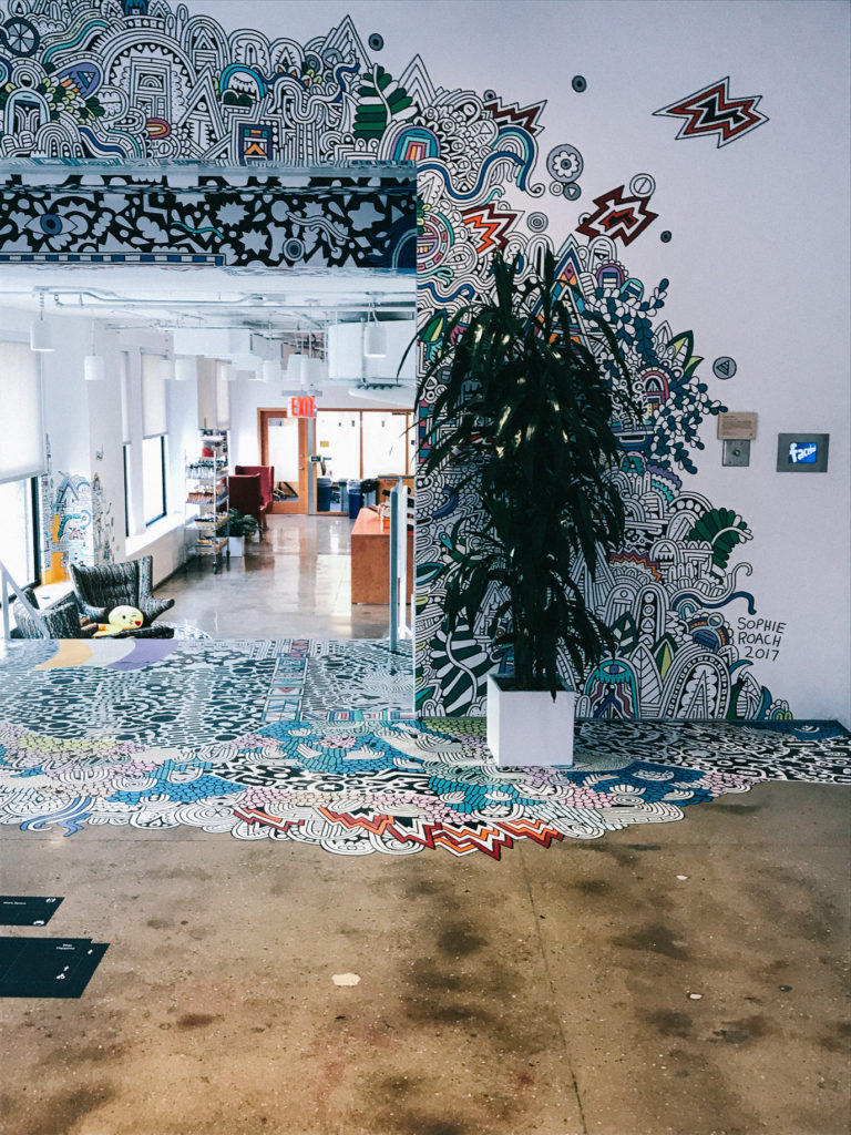NYC Headquarters featuring artist Sophie Roach