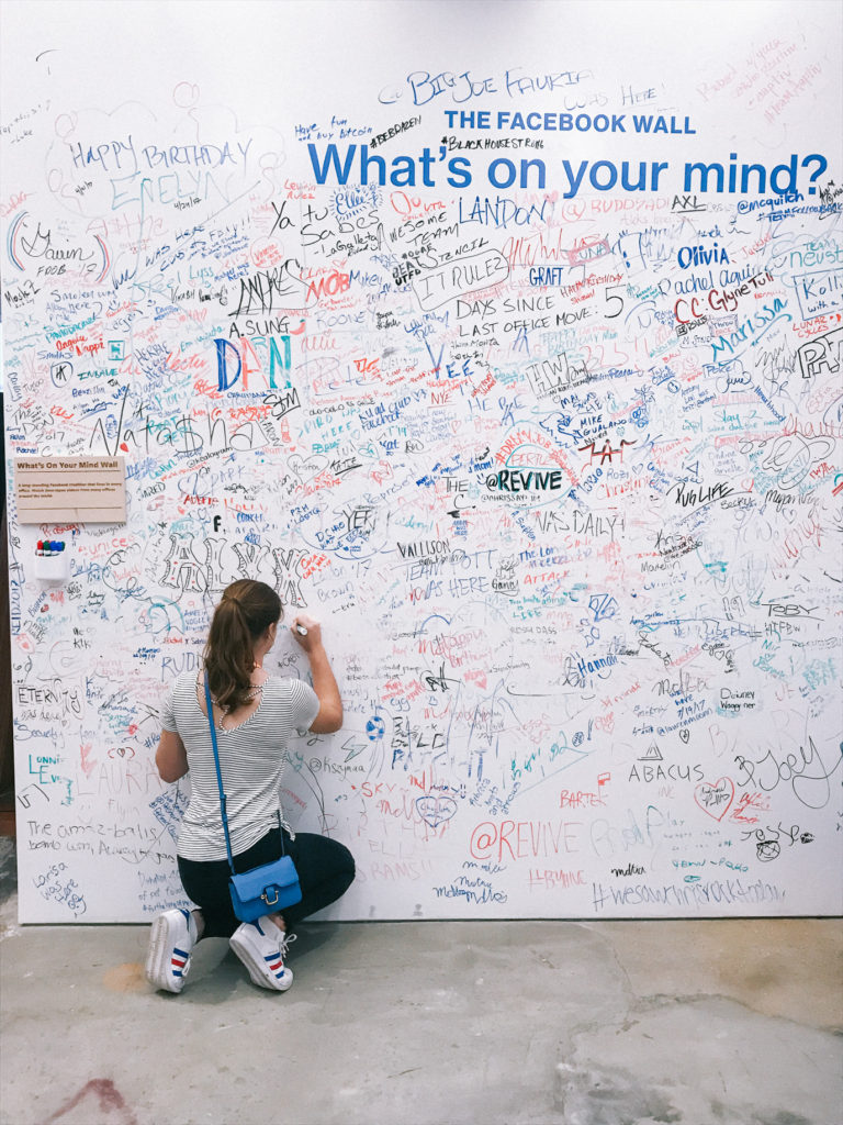 Facebook Wall at HQ in NYC