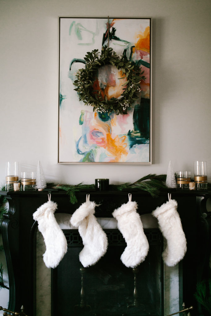 Upgrading Holiday decor with the mantle as the focal point
