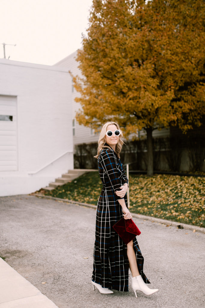 A plaid maxi dress never goes out of style