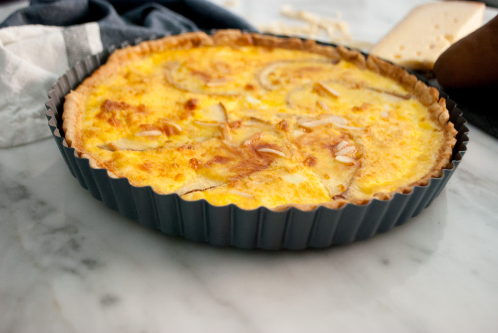 Simple quiche for NYE