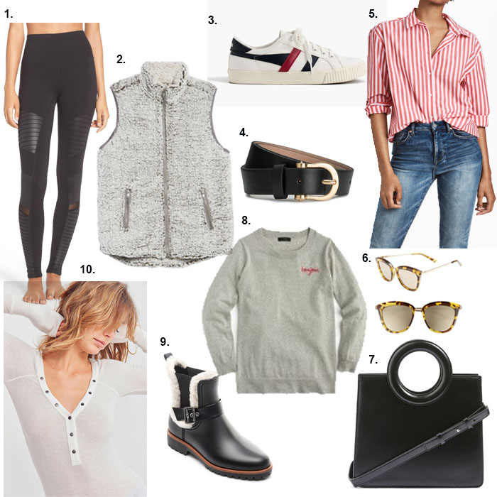 Collage of 10 closet staple items under $100