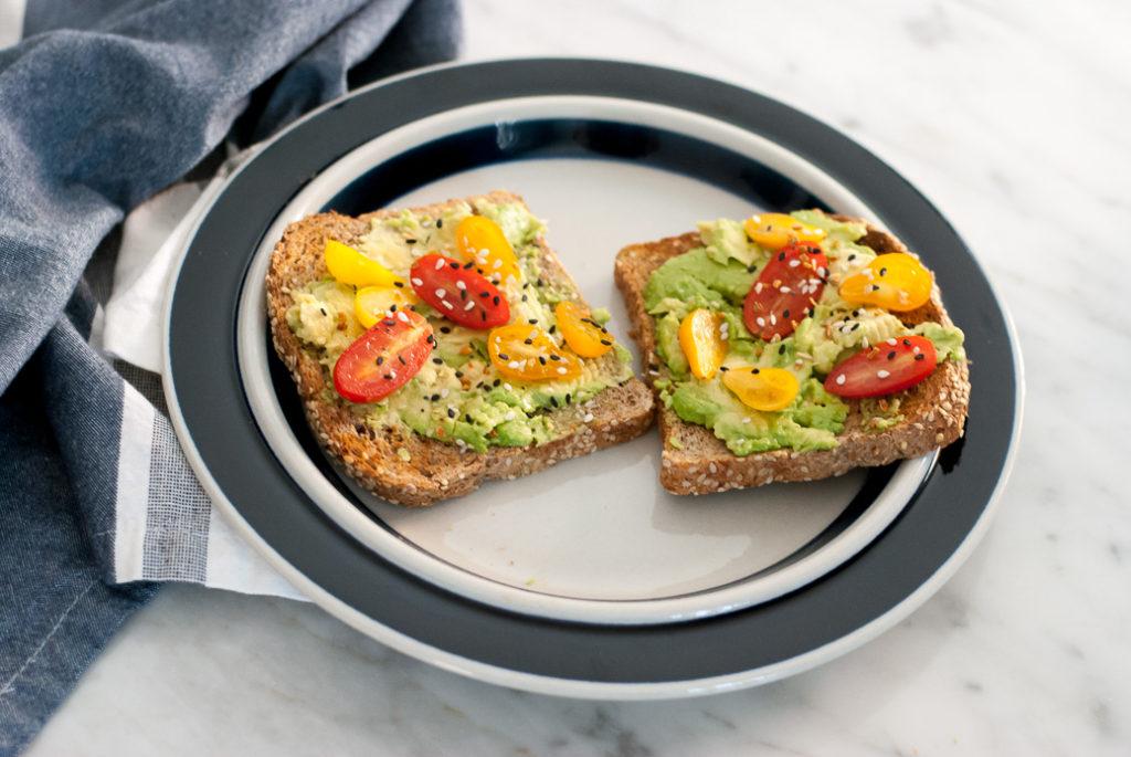 Clean Eating Avocado Toast on Ezekiel Bread
