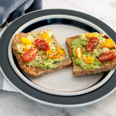 Clean Eating Avocado Toast on Ezekiel Bread