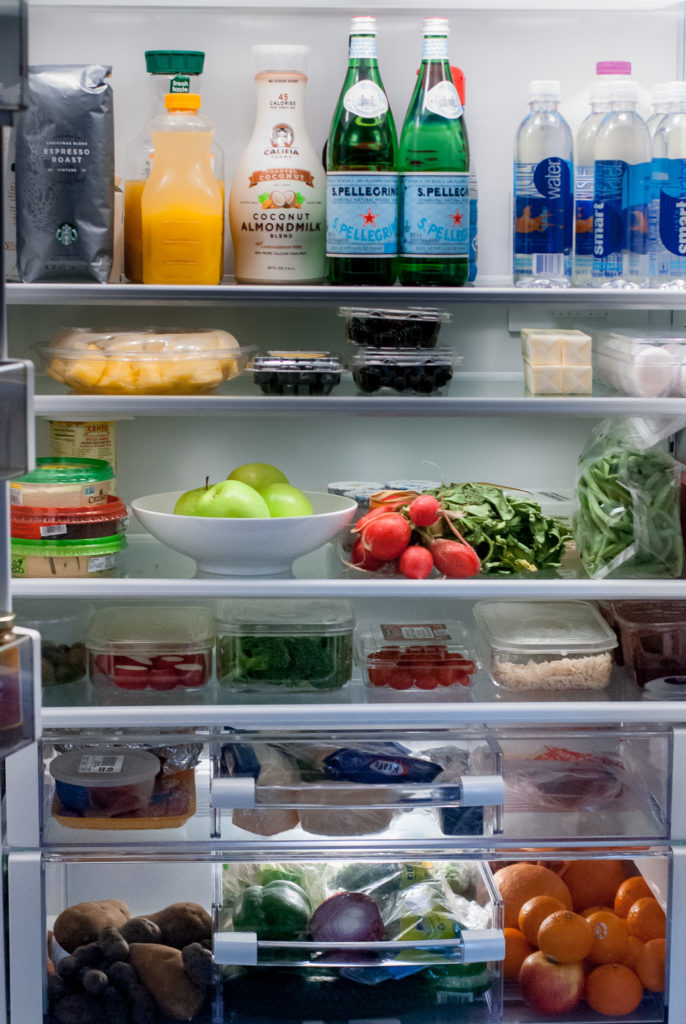 Cleanse by stocking up your fridge with veggies, fruits, gluten free grains and lean protein