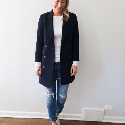 Series: Outfit of the Day – The Perfect Long Navy Blazer