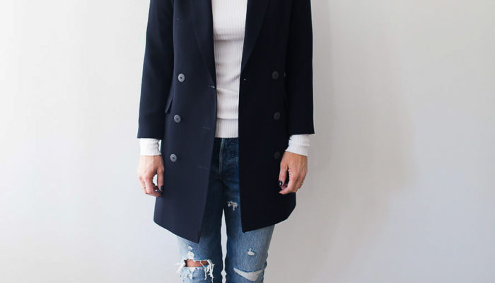 Series: Outfit of the Day-The Perfect Long Navy Blazer