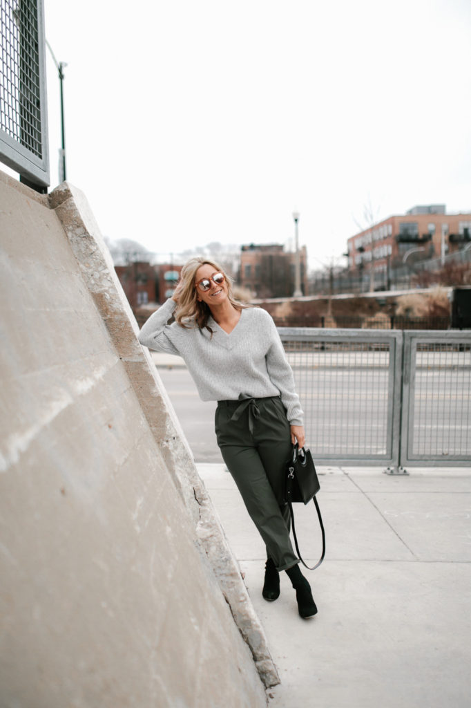 The paper bag pant is a great alternative to wearing denim
