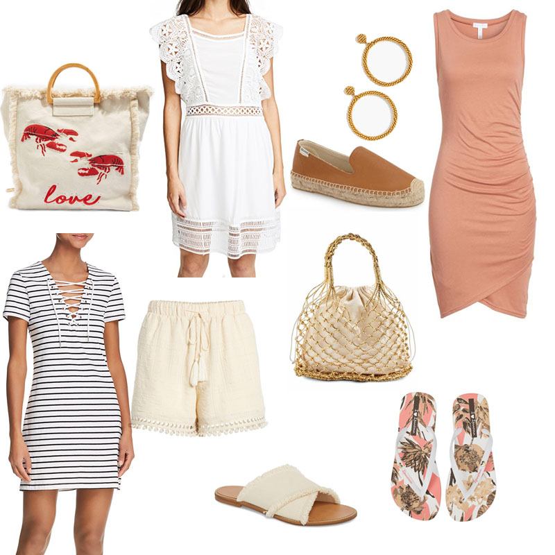 10 Spring Break Finds Under $100: beach bags, shoes and summer dresses mostly in blush tones all under $100