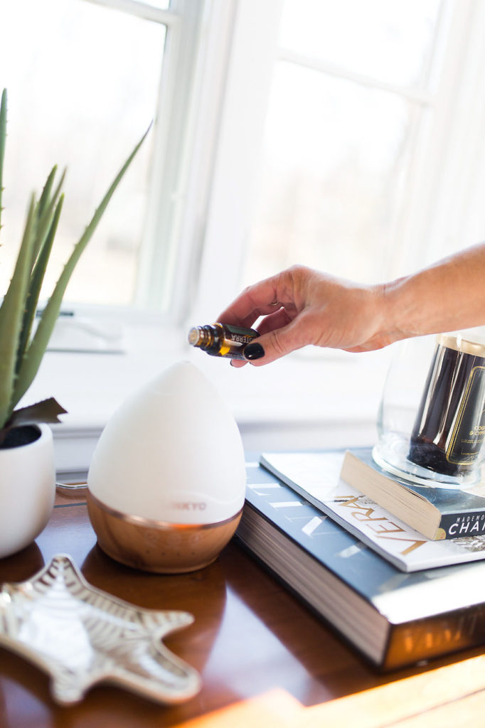 Add Essential Oil Eucalyptus to a diffuser