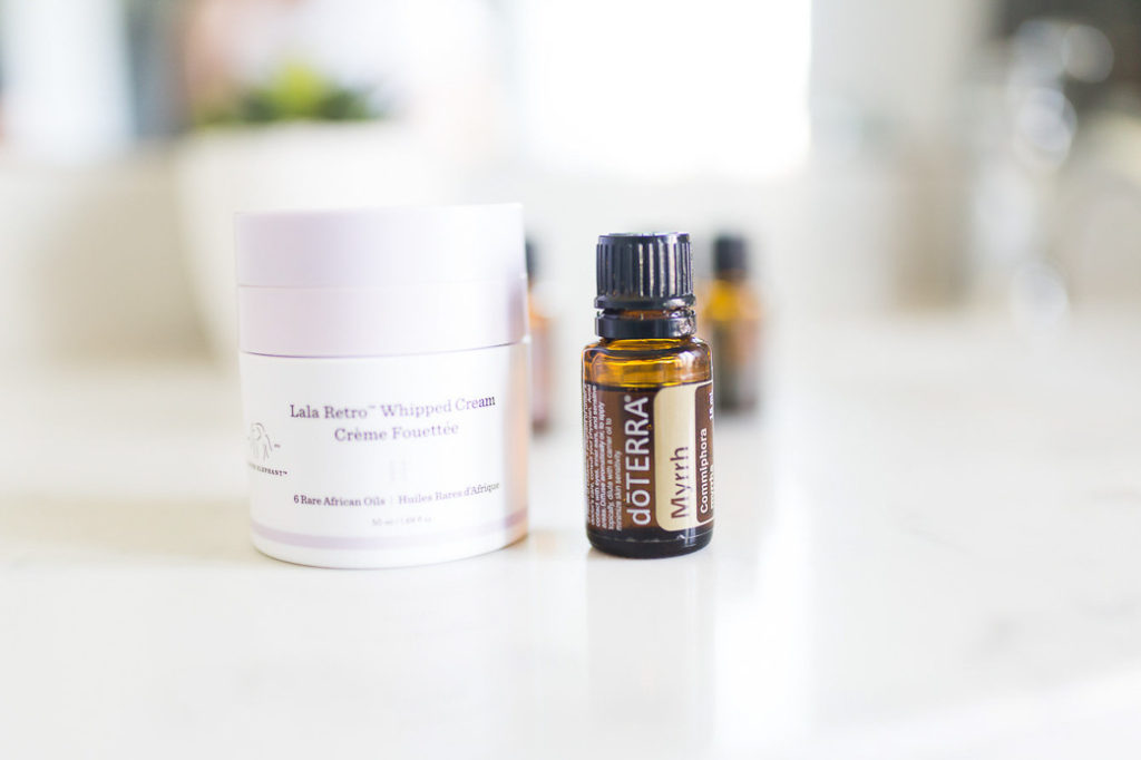 Add Essential Oil Myrrh to your daily moisturizer