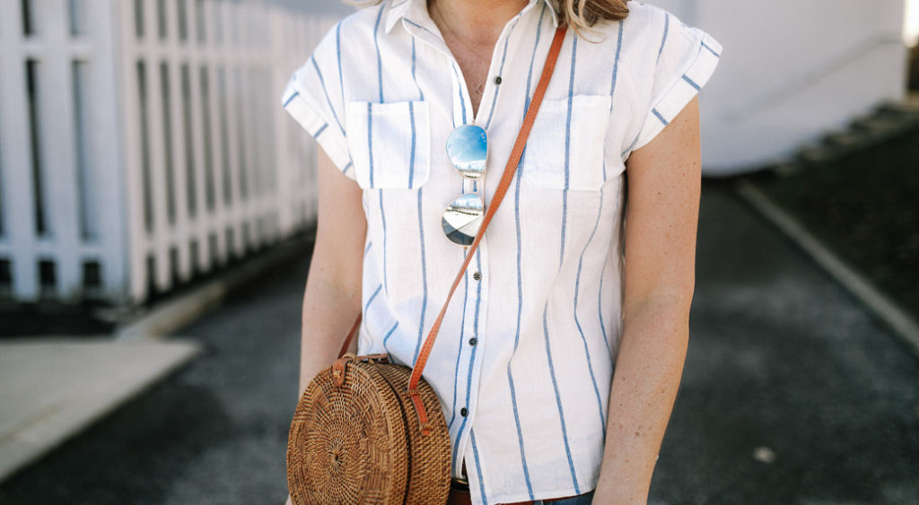 Striped shirt for spring
