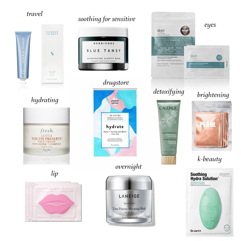 Round-Up of The Best Face Masks by Type