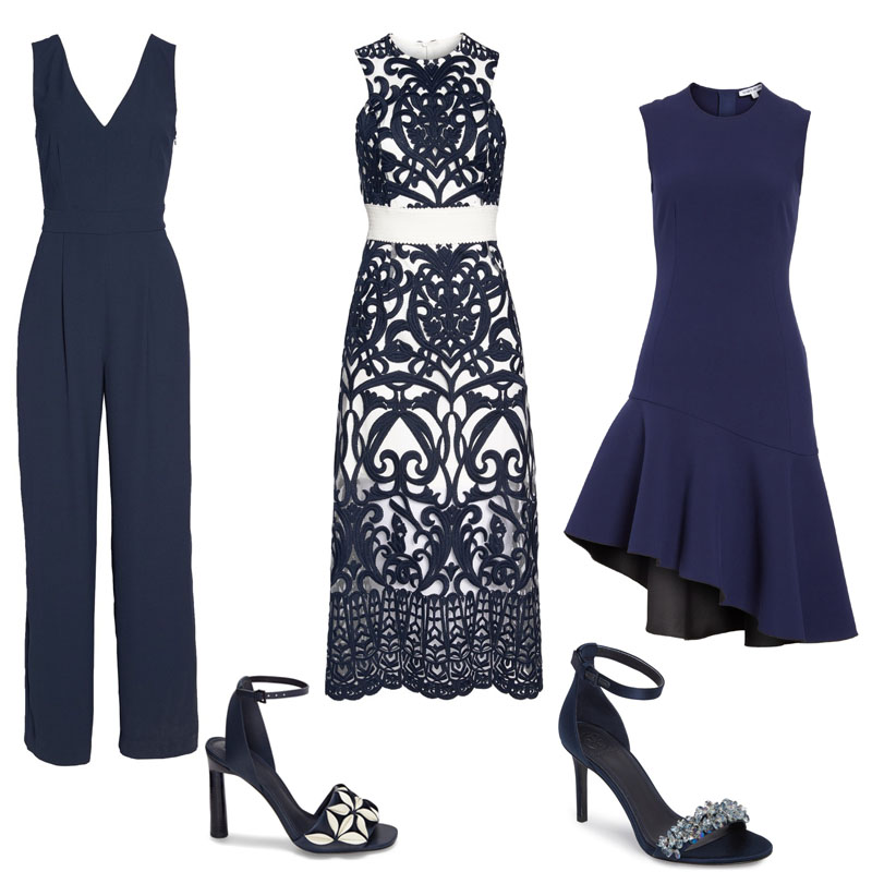 all navy summer wedding outfit ideas