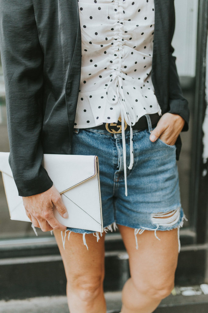 How to wear denim shorts for business casual