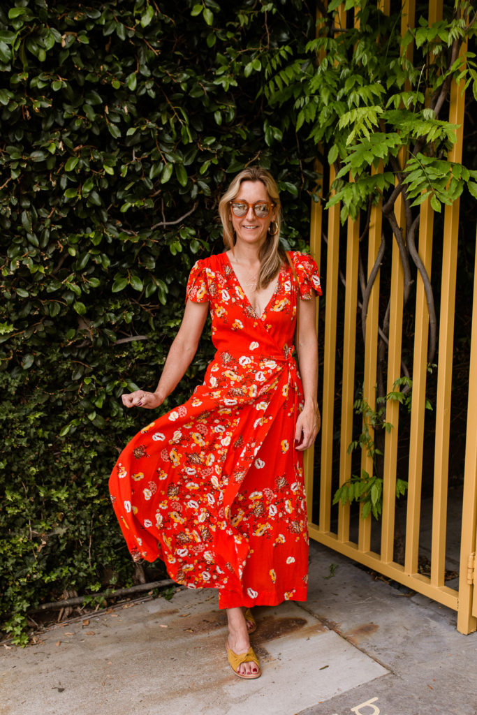 Spring Wardrobe Checklist - Floral Spring Wrap Dress