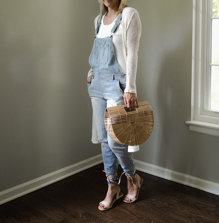 Distressed Denim Overalls - Never without Navy