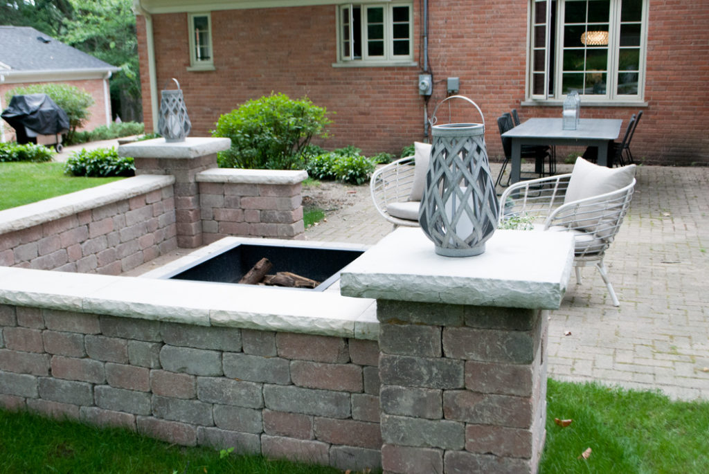 DIY Patio Fireplace