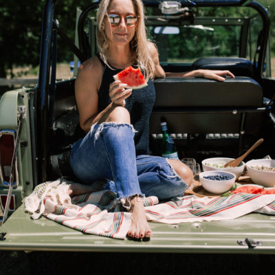 Al fresco dining in the back of a Ford Bronco truck