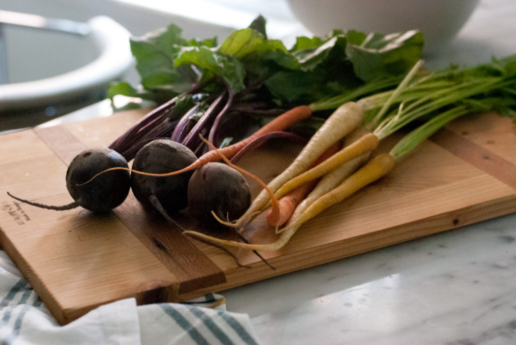 The harvest of root vegetables lasts until late fall.