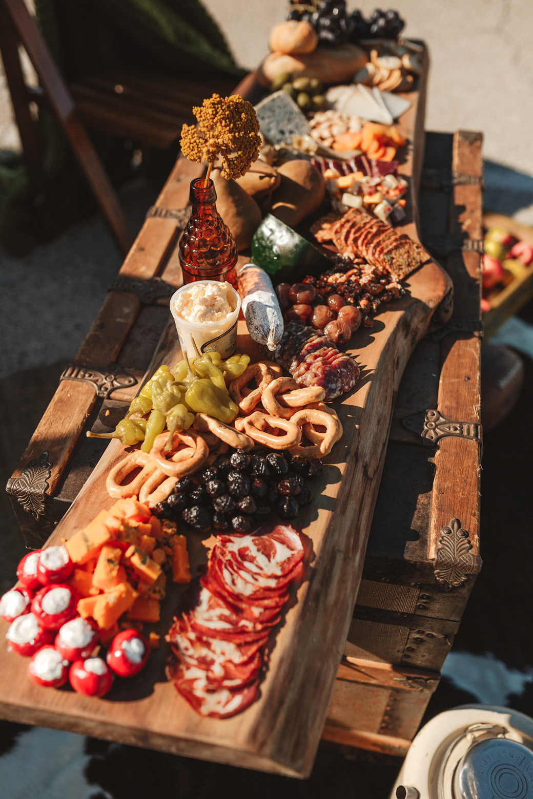 Charcuterie Boards created curated with meats, cheese, olives