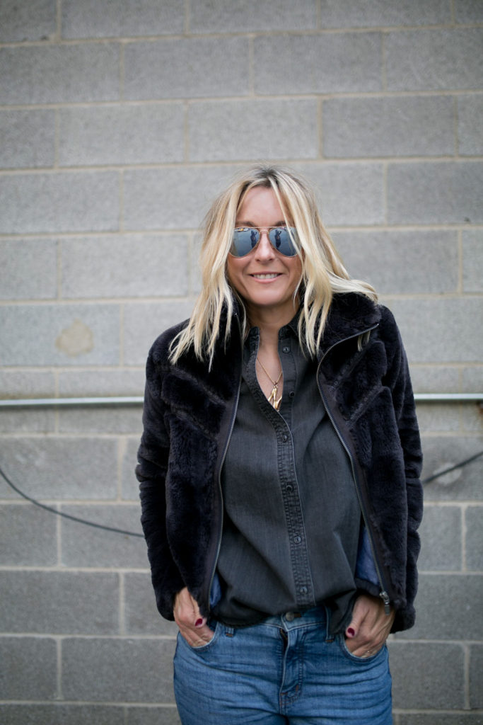 Faux Fur Jackets - Never Without Navy