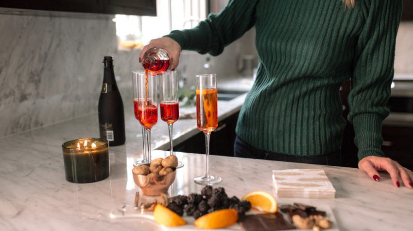 Sparkling Holiday Wine Cocktail for NYE