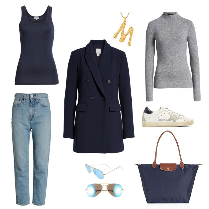 Tank here // Blazer here // Necklace here // Turtleneck here // Denim here // Sunnies here // Sneakers here (expensive but my most worn pair of shoes!) // Bag here