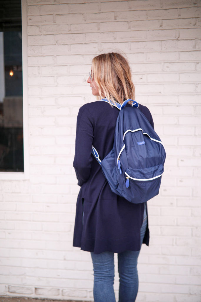 Never Without Navy is featuring a Paravel - Fold-Up Backpack