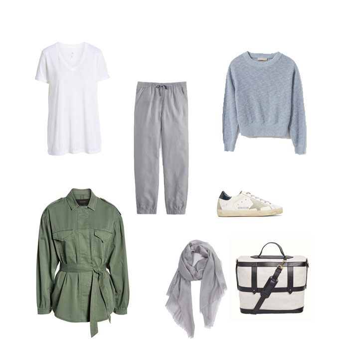 what to wear on an international flight - outfit idea
