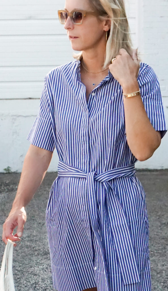 Style A Shirtdress with an Everlane Favorite