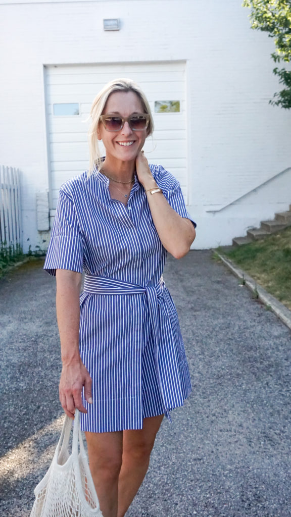 Style A Shirtdress with these simple steps and buy this navy one for ease of use!