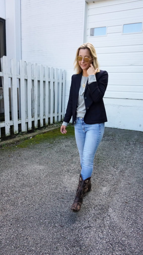 blazer outfit idea