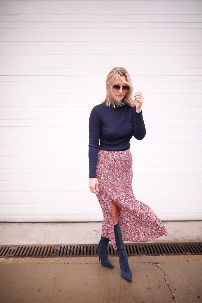 How to Style A Long Skirt with boots