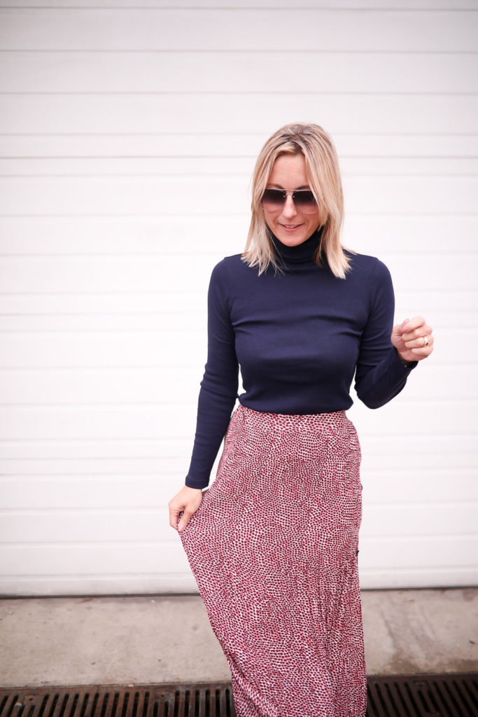 How to Style A Long Skirt