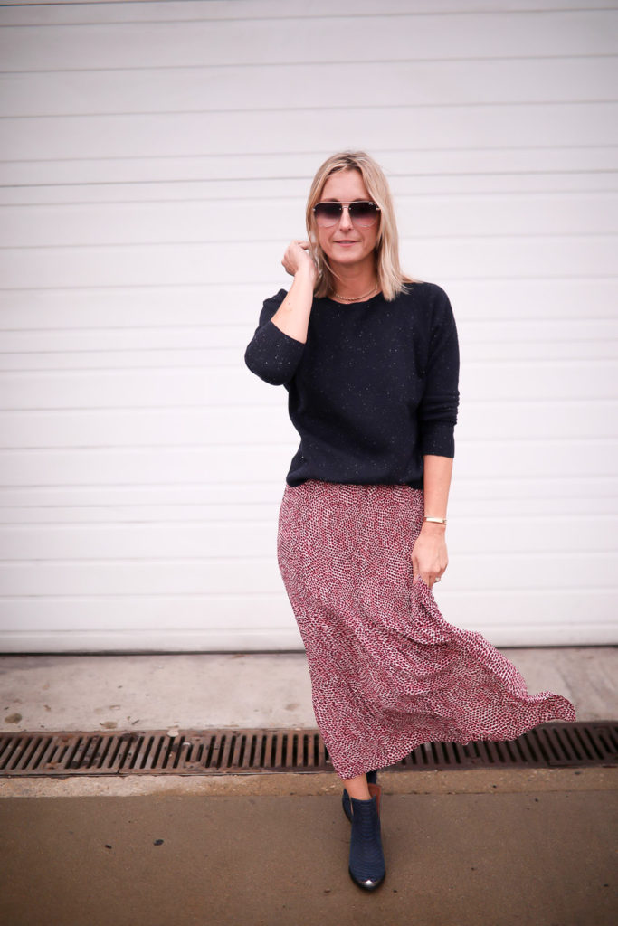 bottes et jupe longue