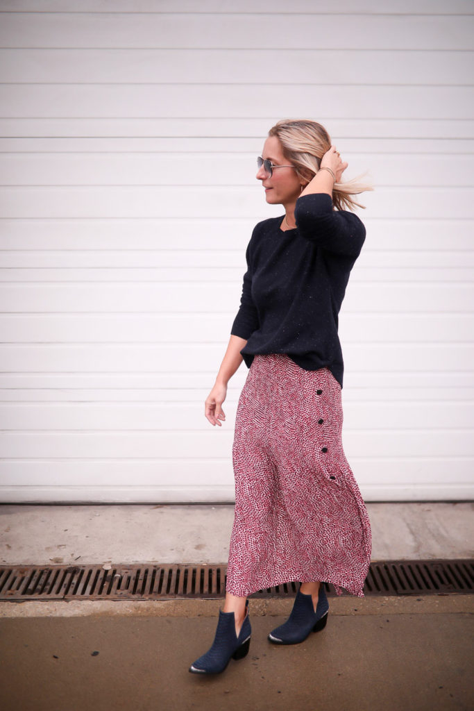 chunky sweater - How to Style A Long Skirt