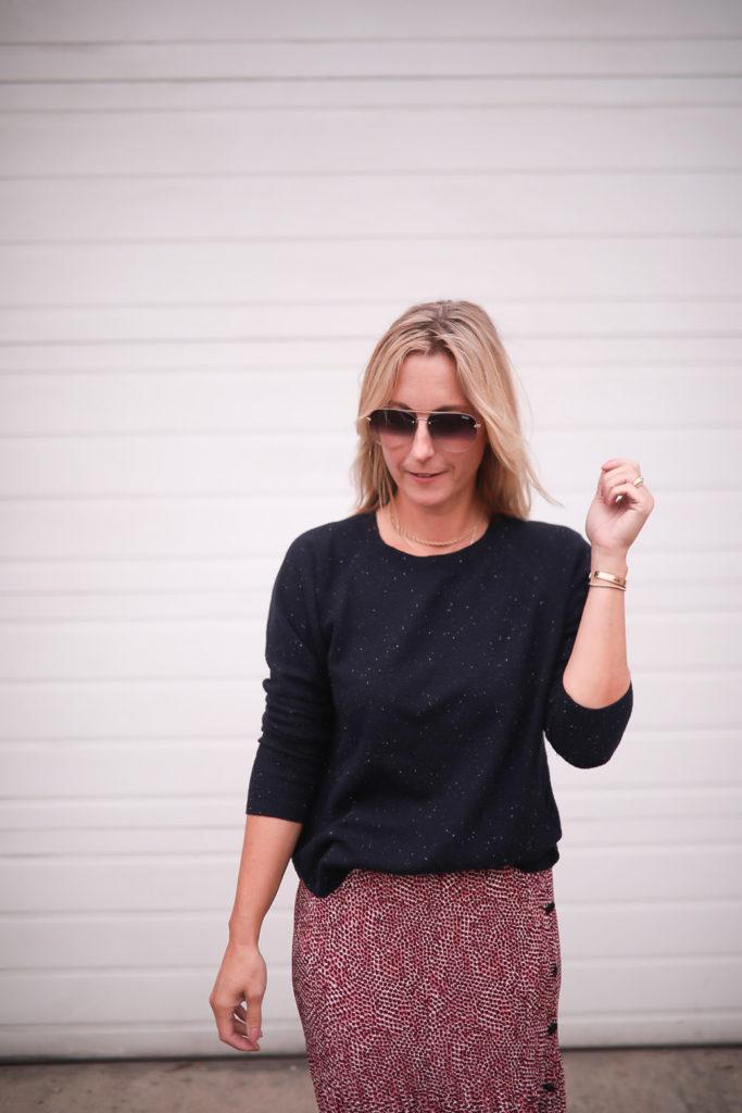 pull épais - Comment styliser une jupe longue