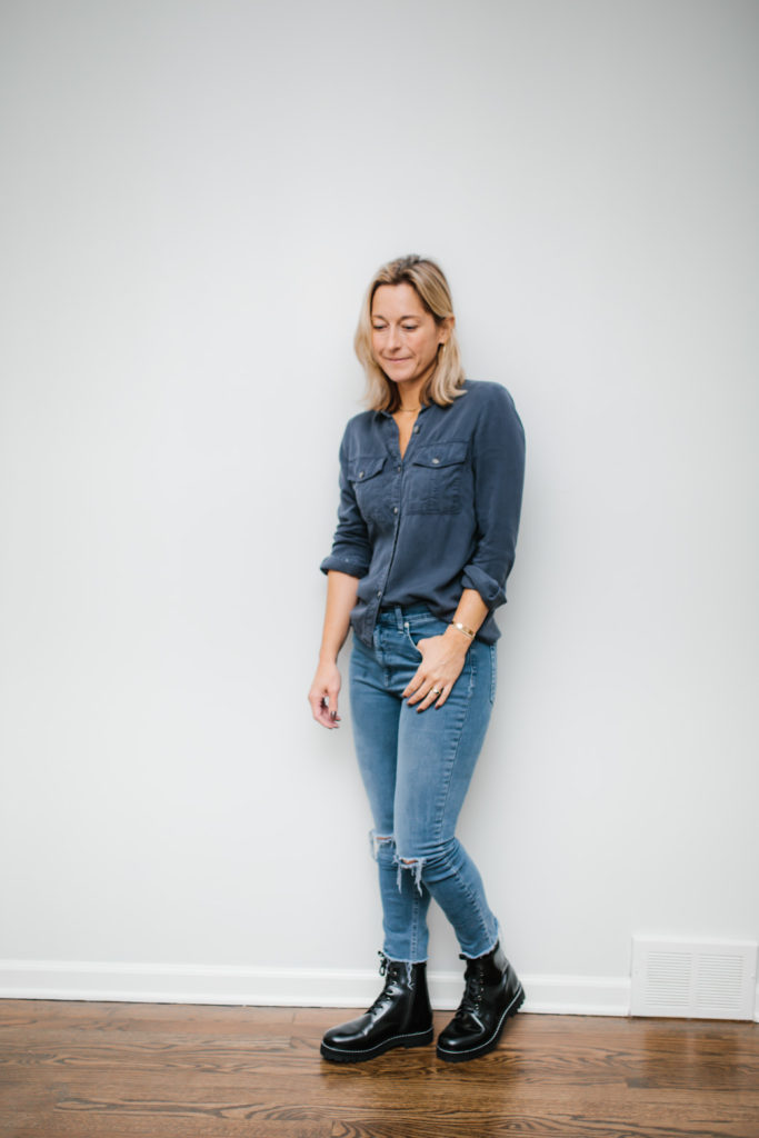 How To Wear Combat Boots with denim