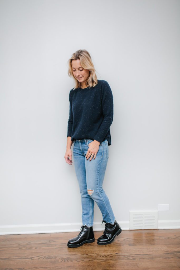 How To Wear Combat Boots with cashmere
